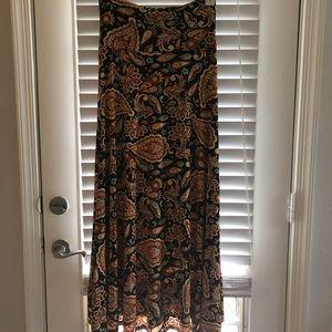 LuLaRoe Maxi Skirt. Size small